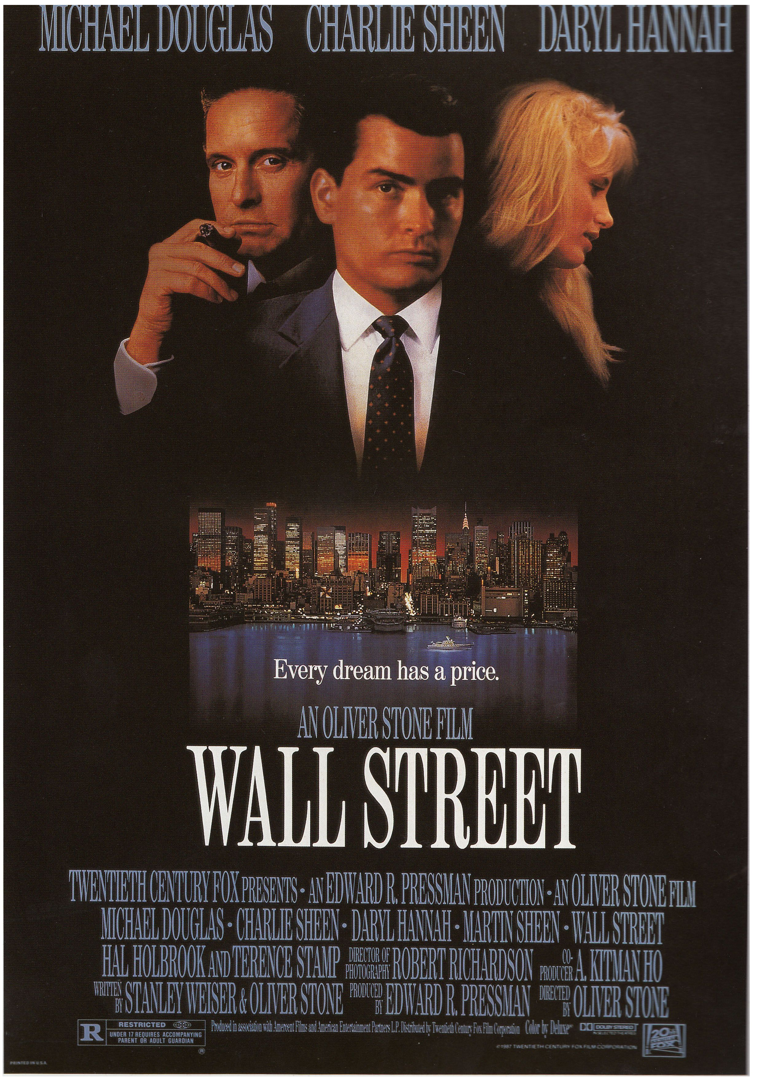 Wall Street 1987 Book Film Posters Of The 1980s Tony