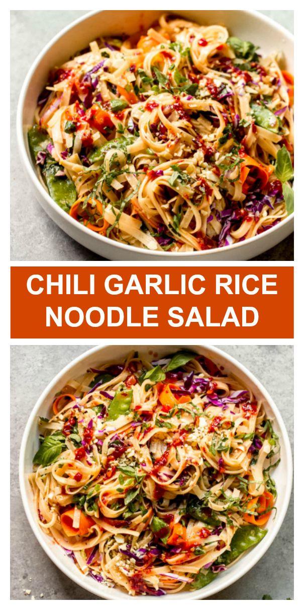 Photo of 25-Minute Chili Garlic Rice Noodle Salad – Little Broken