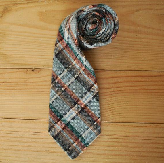 Vintage plaid tie by LostPropertyVintage, £7.00