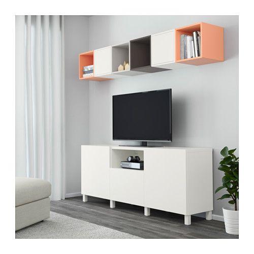 Best eket tv storage combination white dark grey light - Besta ikea misure ...