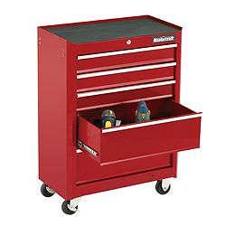 Mastercraft 5 Drawer Cabinet Deep Red 24 In Canadian
