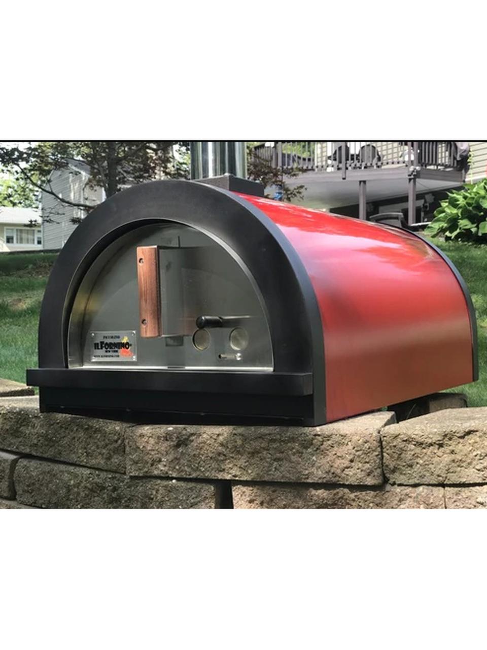 Ilfornino Piccolino Wood Fired Pizza Oven Black Counter Top Wood Fired Pizza Wood Fired Pizza Oven Pizza Oven