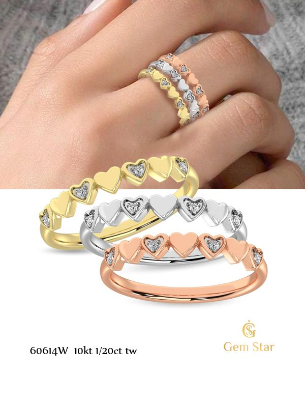 #stackbands #rosegold #pinkgold #yellowgold #whitegold #diamondring #heartring #stackables #love #beautifulovering #livelovejewelry #fortheloveofjewelry #fortheloveofgold #finejewelry