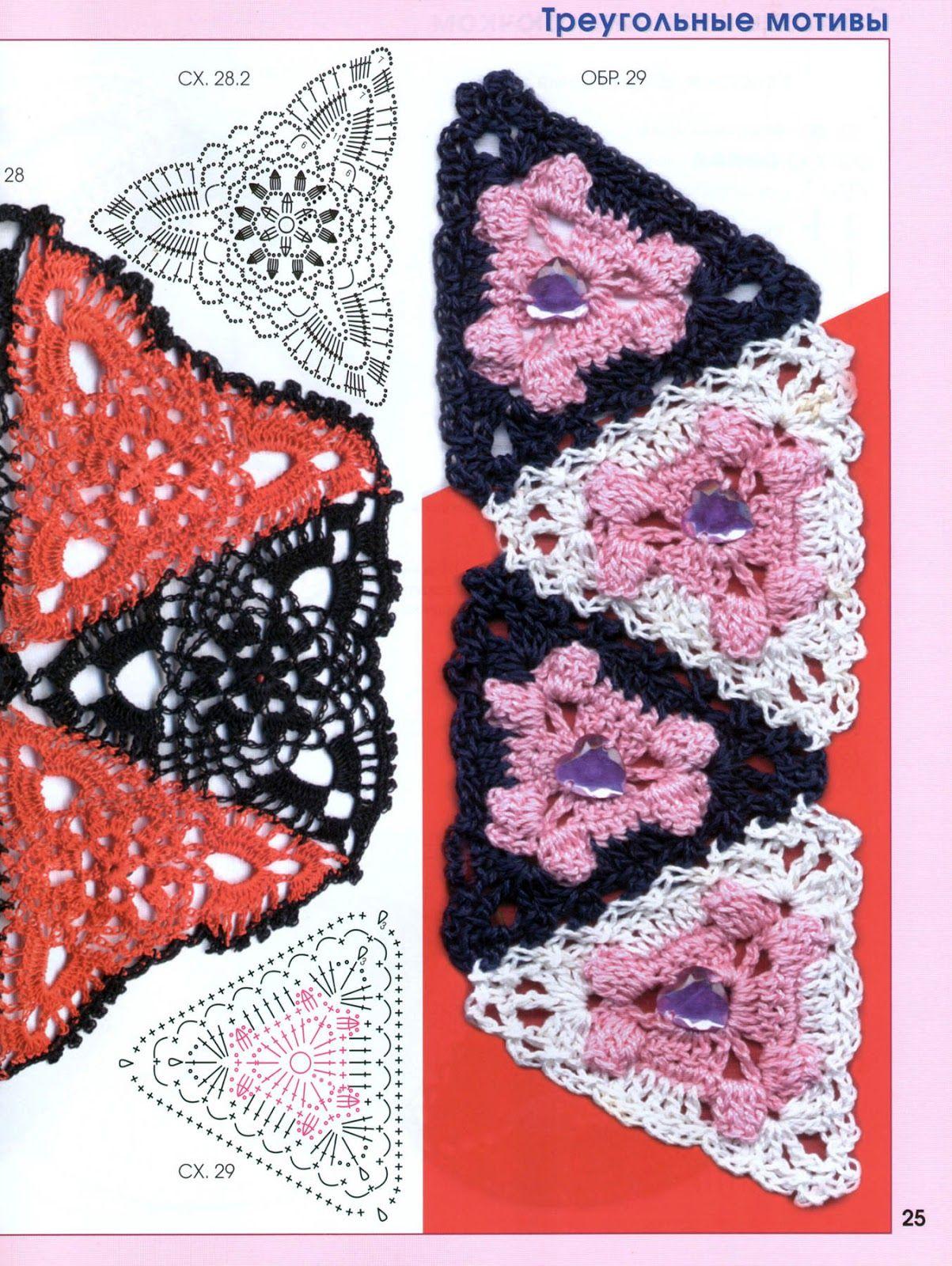 SOLO PUNTOS: crochet círculos, pentagonal, triangulos | yogenny ...