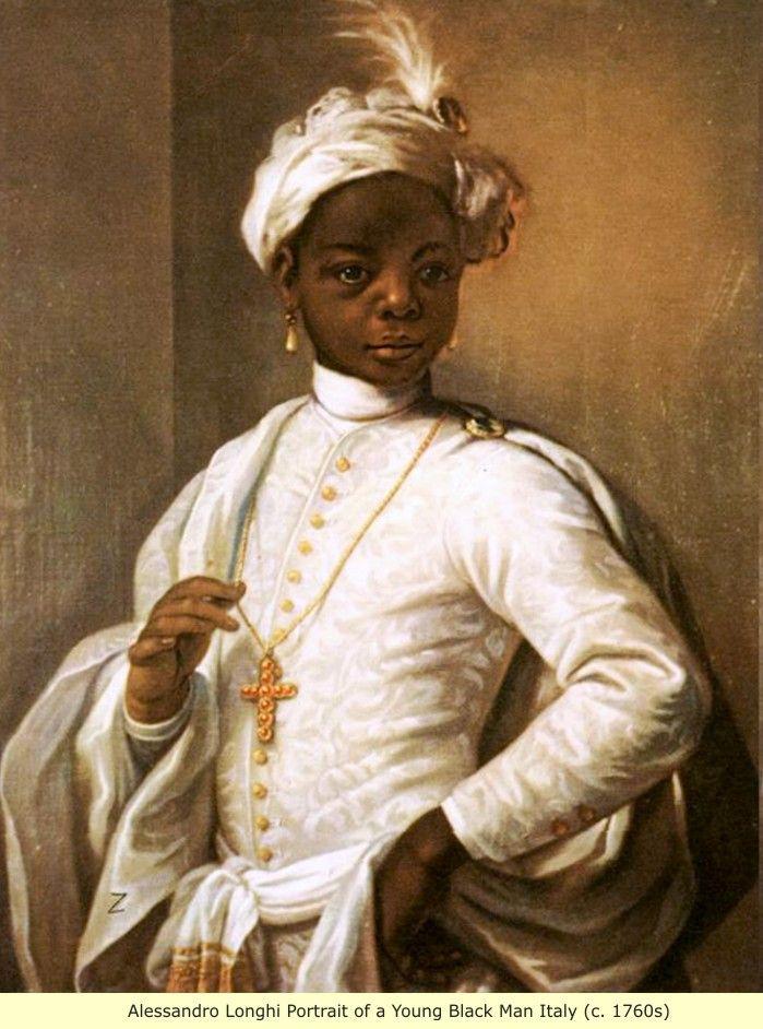 People European Black Paintings