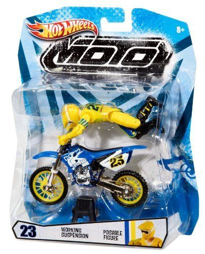 Amazon Com Hot Wheels Moto X No 23 Rider With Blue Bike Figure
