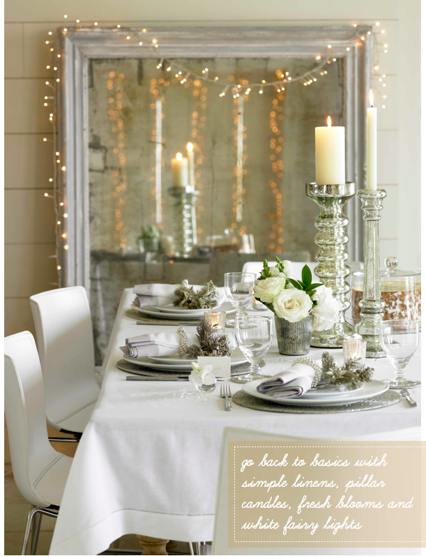 The White Company S Christmas Collection Decorating With Christmas Lights Christmas Table Decorations Christmas Themes Decorations