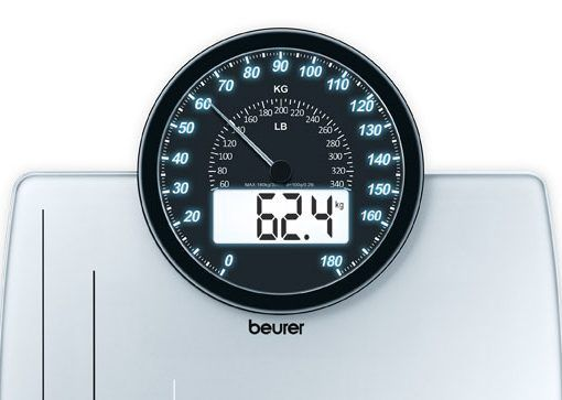 Beurer GS-58 Dual Function Bathroom Scale / Weight Scale ...