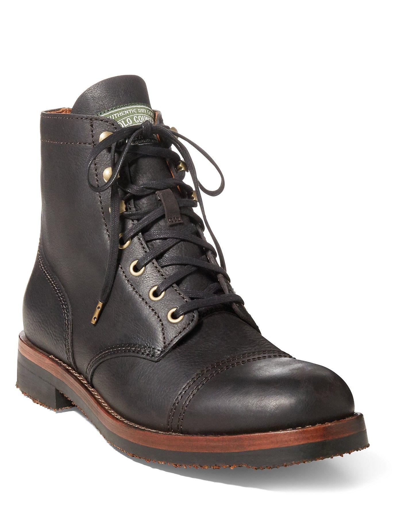 352364b5d7cc7 RALPH LAUREN Polo Ralph Lauren Enville Leather Cap-Toe Boot.  ralphlauren   shoes