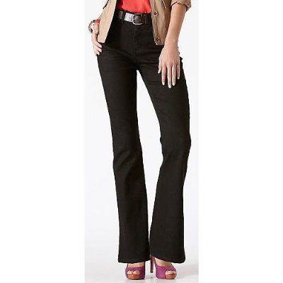 Gloria Vanderbilt Gabby Modern Fit Bootcut Jeans BLACK ONYX 16  From Gloria Vanderbilt: Need new black jeans! Love boot cut, natural waist, & GV usually fits well.
