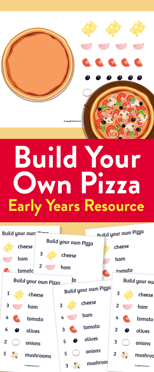 Early Years Build Your Own Pizza Maths Activity Math