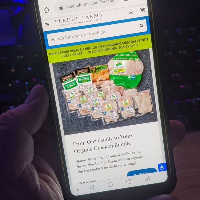 perdue farms mobile ordering is an easy way to plan deliveries of chicken beef pork and other meats    #PerdueFarms_Partner
