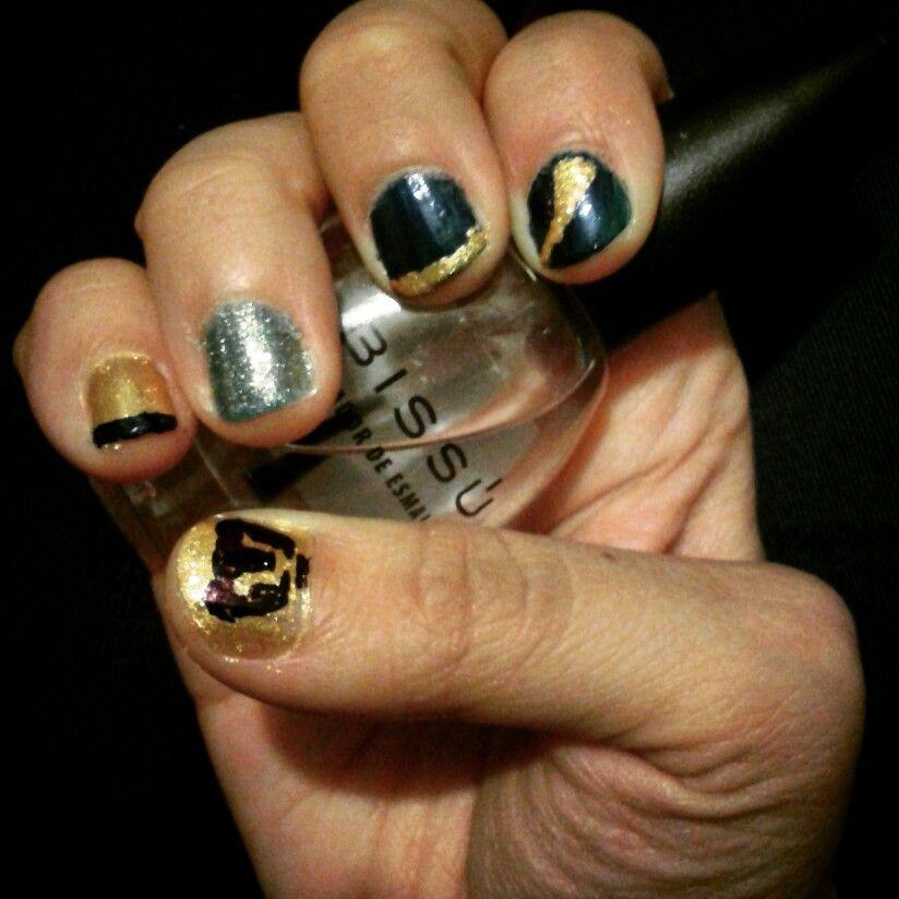 Uñas auriazules ¡México! ¡Pumas! ¡Universidad!   Paint my nails ...