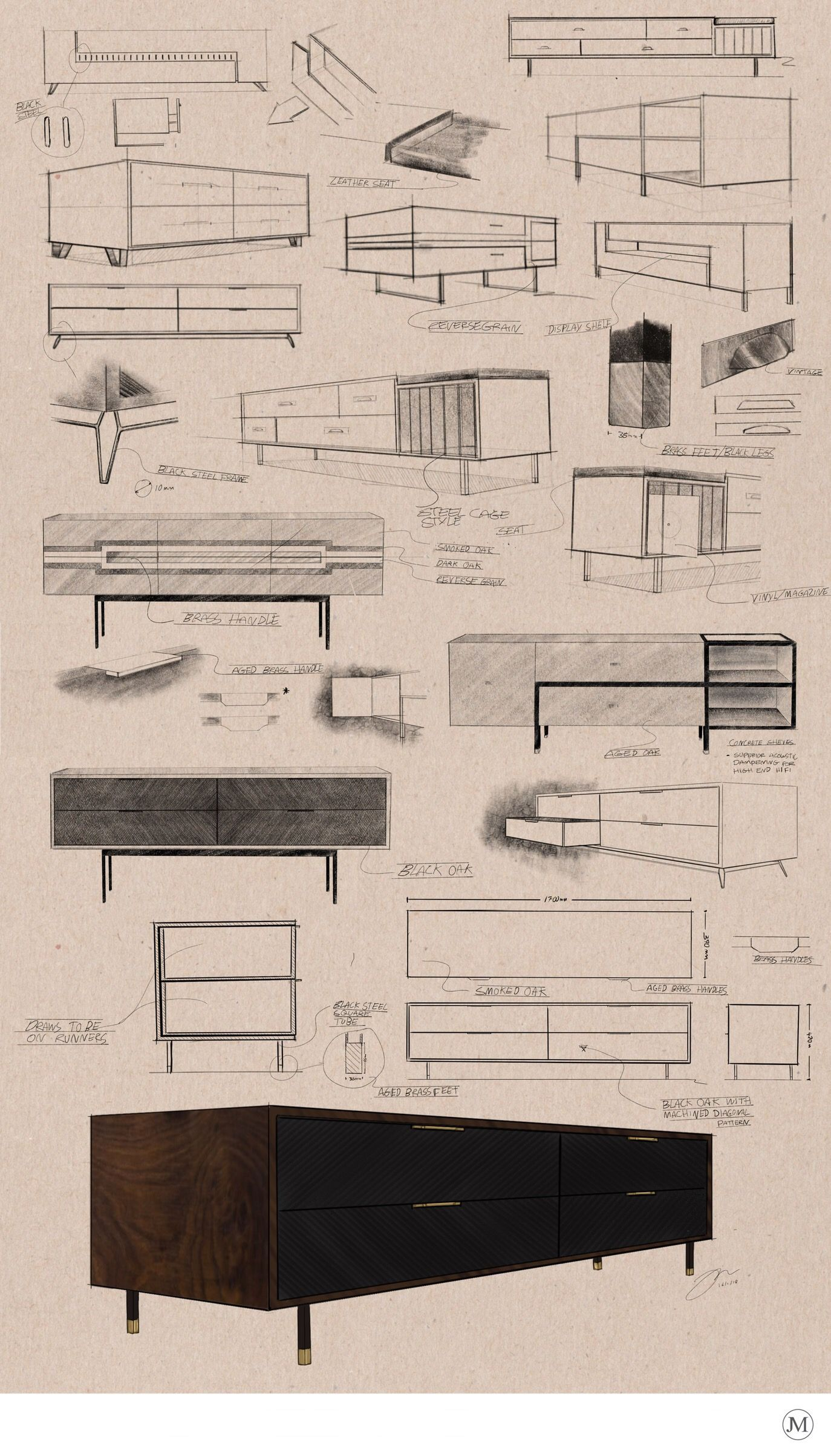 Concept Board Created For A High End Style Furniture Company Www Jamesmarshall