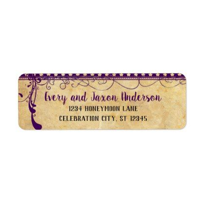 Medieval Renaissance Ultra Violet Return Address Label - barn