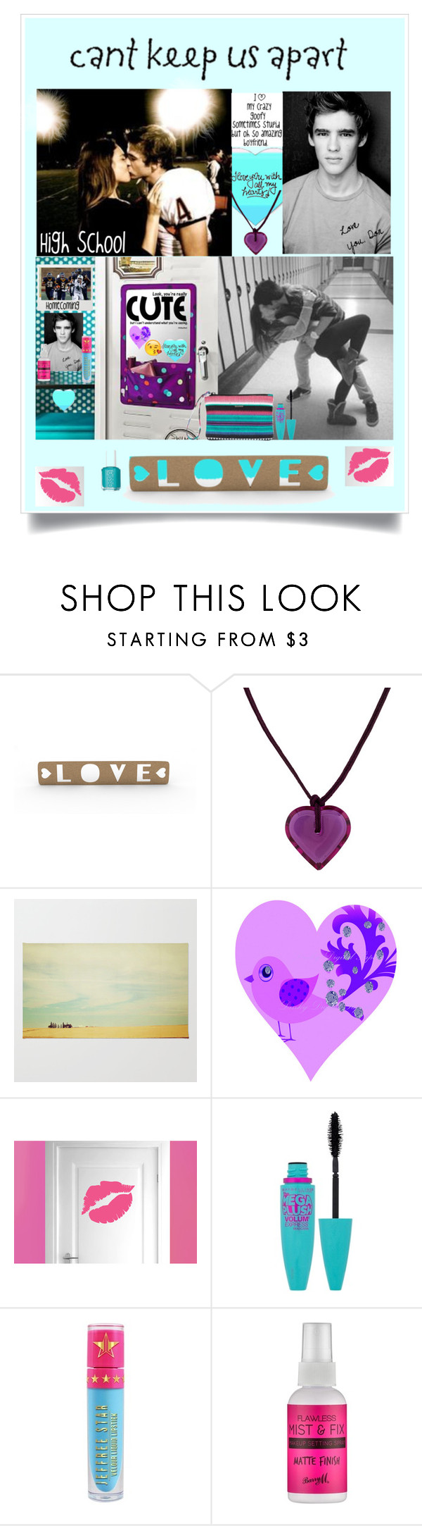"""""""CRAZY LOVE"""" by beleev ❤ liked on Polyvore featuring Baccarat, WALL, Maybelline, Jeffree Star, Barry M and Essie"""