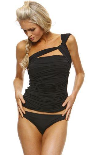 5d5b45aedefa30c05ecfd4954c1496ca 1 sol swimwear asymmetrical tankini top with basic brief dpt,1 Sol Swimwear