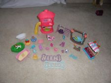 Littlest Pet Shop (LPS) Huge Lot of 30 Play ground,Furniture,accessories Great!!