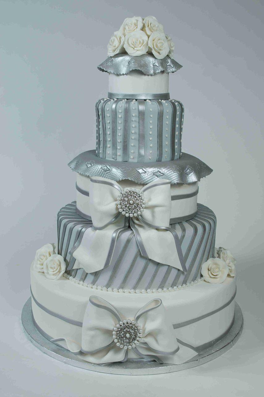 Silver elegance wedding cake wc wedding pinterest