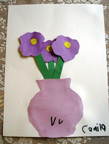 V Is For Vase Of Violets Ceres Childcare Preschool Letter V
