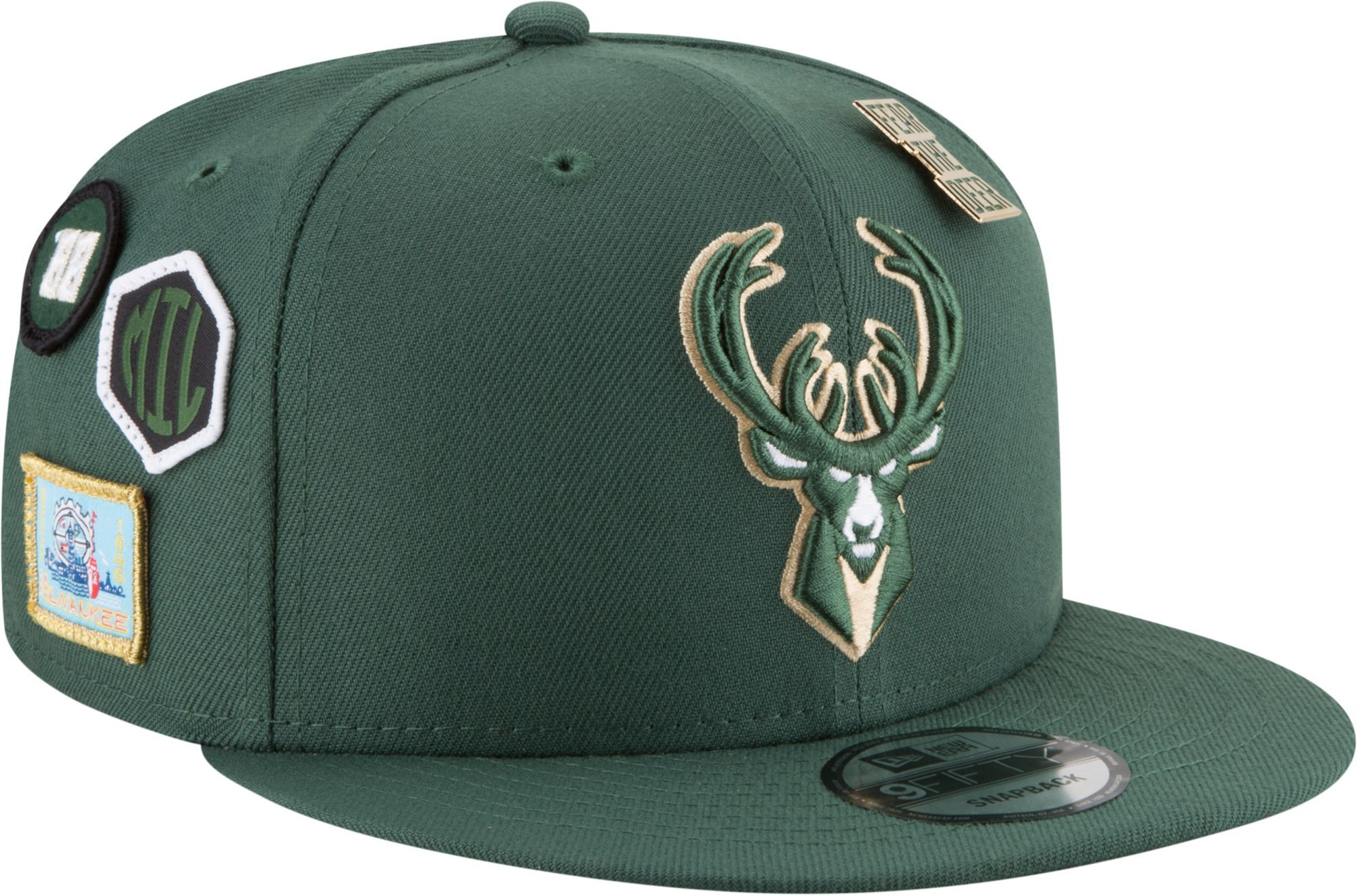 New Era Men s Milwaukee Bucks 2018 NBA Draft 9Fifty Adjustable Snapback Hat 70cb80be9e3