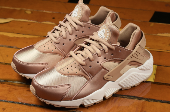 nike air huarache rosa gold