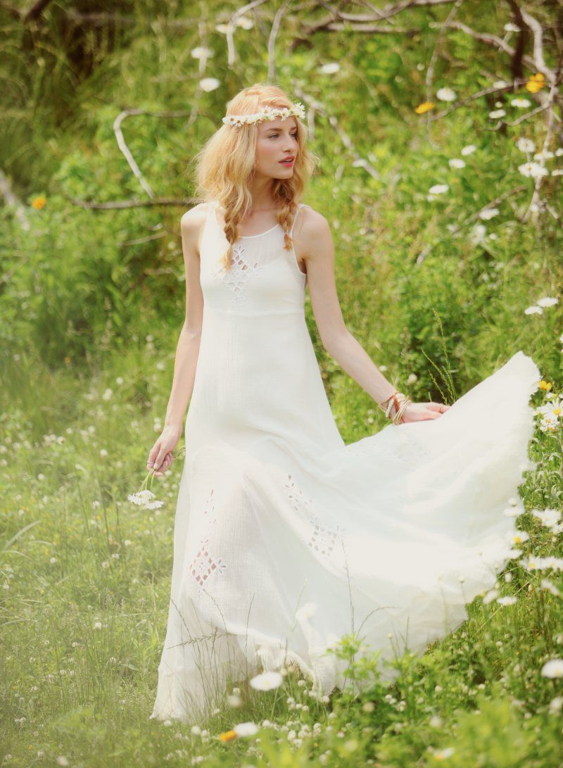 Boho hippie wedding dress  Linda Vojtova Models Free Peopleus Dreamy Limited Edition Summer