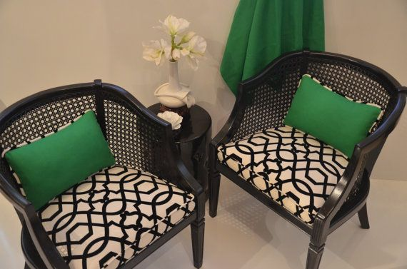 Sold Can Replicate Pair Of French Barrel Chairs Black