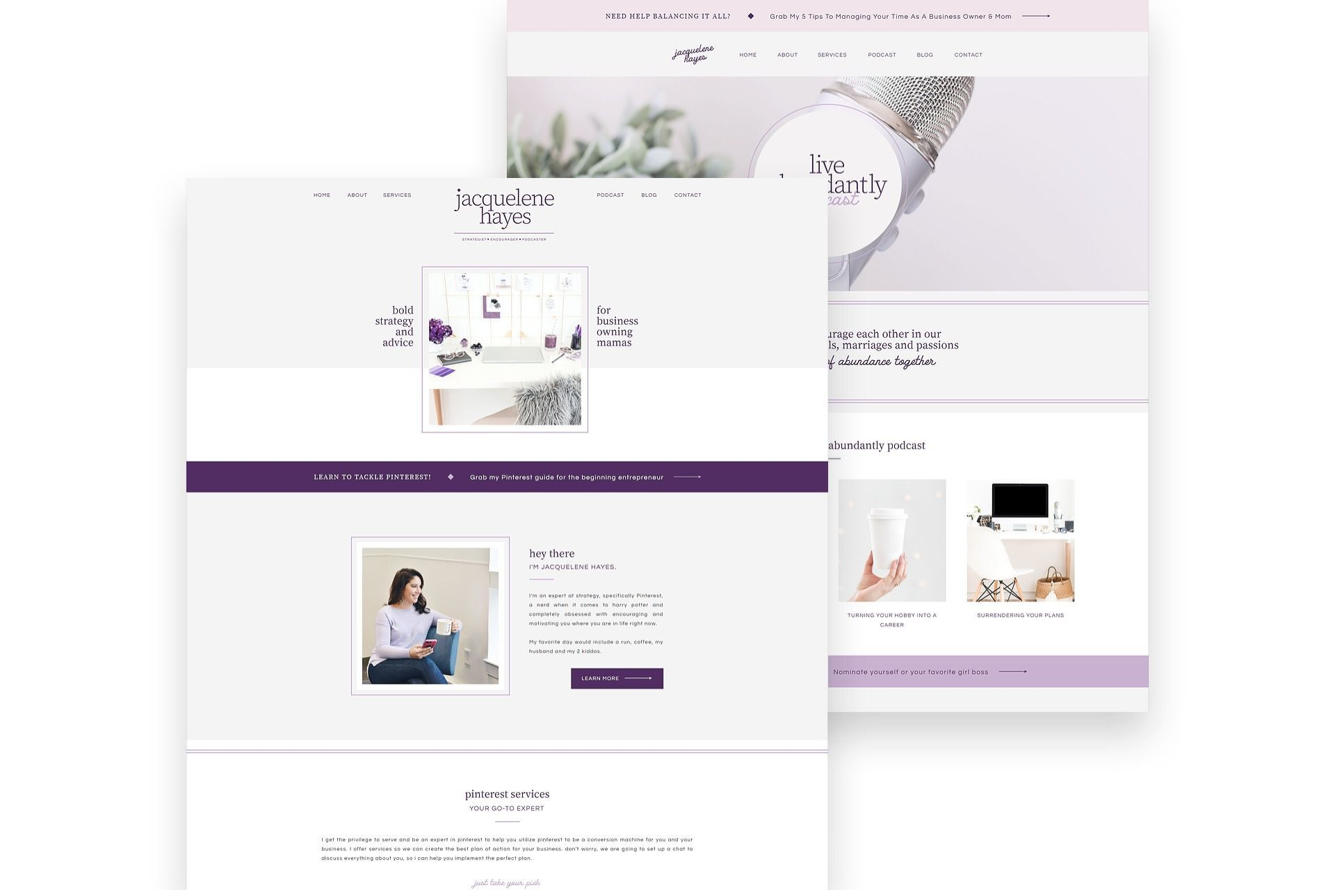 Pin By Branderful L Branding Design On Web Design In 2020 Feminine Website Design Custom Website Design Simple Website Design