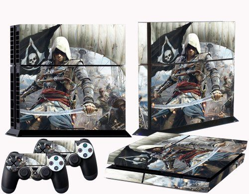 Ps4 Skins Assassins Creed Iv Black Flag Vinyl Decal Cover For Ps 4