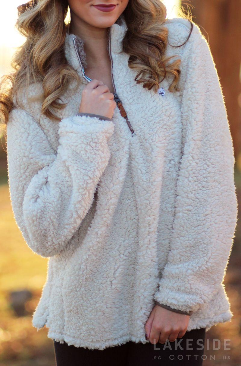 Southern Shirt 1/4 Zip Sherpa Pullover | Lakeside Cotton ...