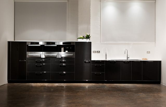 Love These Black Cabinets Kitchen Collection Contemporary Kitchen Kitchen