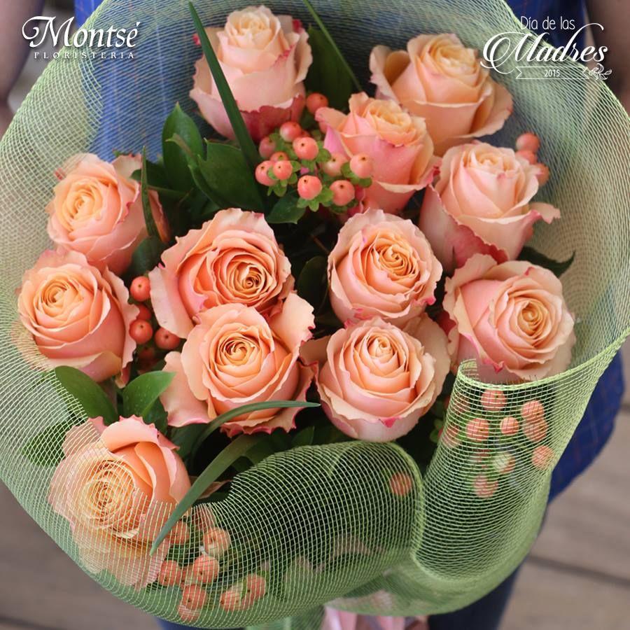 Hermoso Ramo De Rosas Color Salmón Arreglos Florales