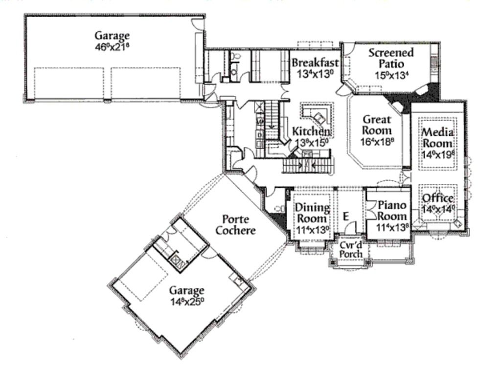Porte cochere motor court house plan house plan sites for Motor home plans