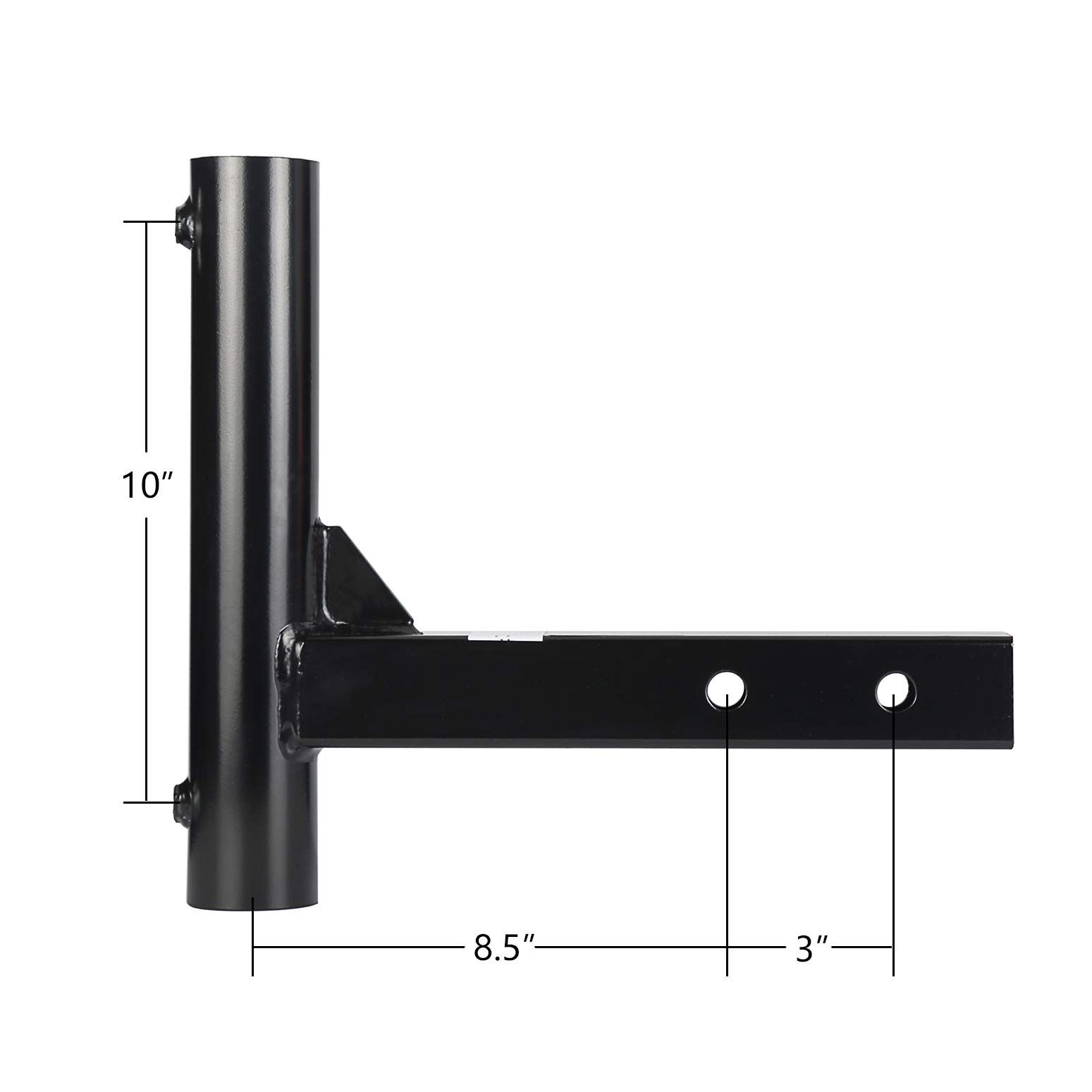 Hitow Hitch Mount Flagpole Holder For 2 Hitch Receivers Flag Travel 8 5 Or 11 5 Length Black Powder Ad Flagp Power Coating Flag Pole Holder Pole Holders