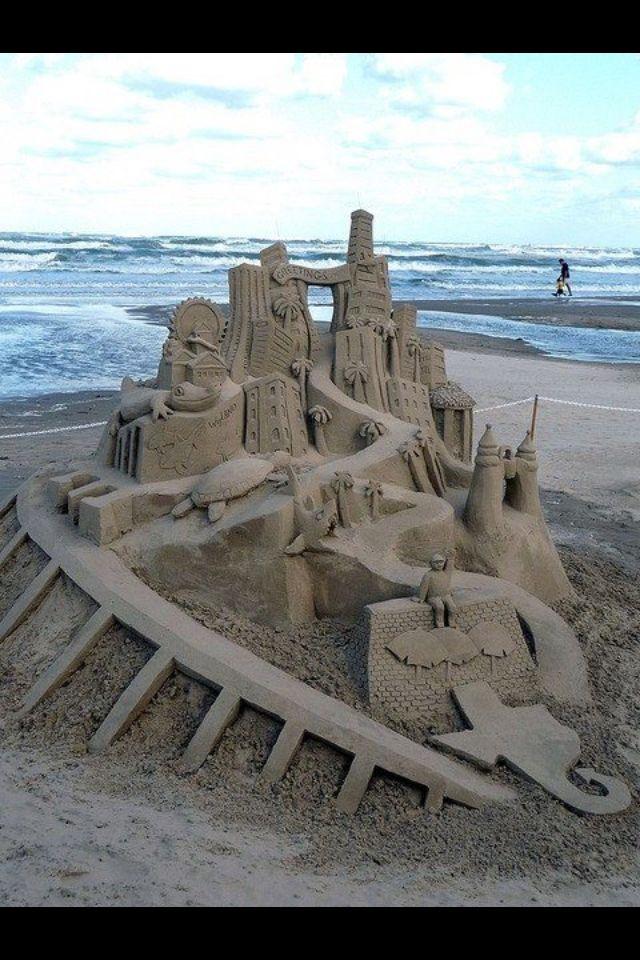 Sandcastle On Beach Image & Photo | Bigstock
