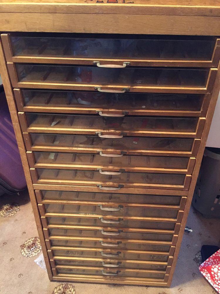 Sylko Dewhurst Shop Display Drawer Handle Cabinet - 14 Drawer ...