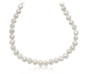 Blue Nile Baroque Freshwater Cultured Pearl Necklace in Sterling Silver (7.5mm) nAHhs0sE24