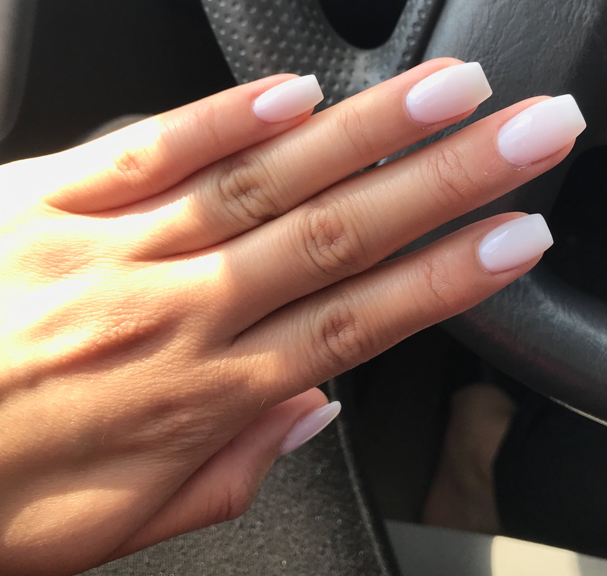 Tapered Square Shape With Images Pink Nails Perfect Nails Powder Nails