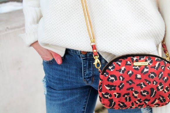 pink leopard mini bag