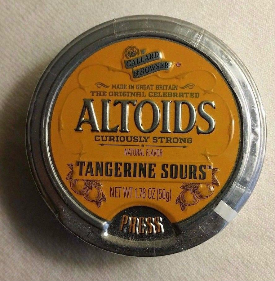 Altoids Sours Curiously Strong Tangerine Discontinued 1 Sealed Tin RARE