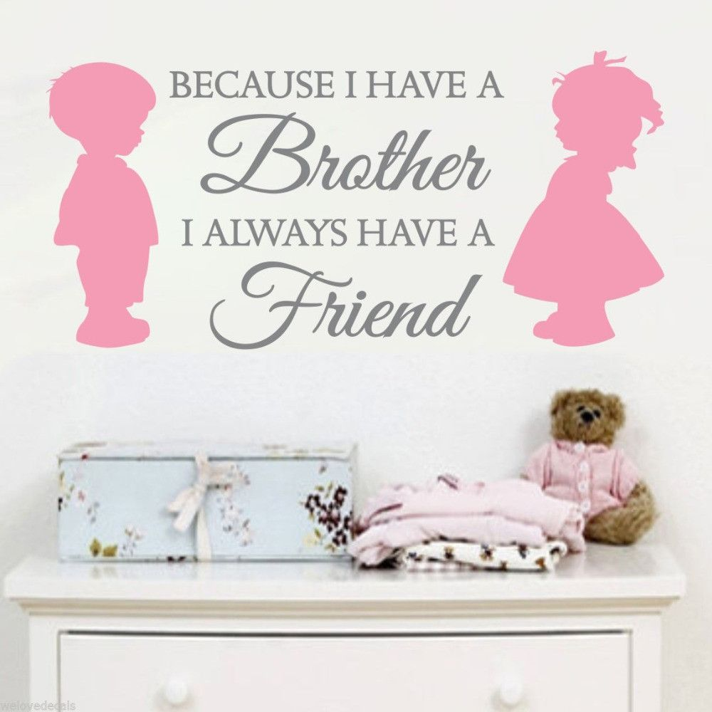 Sisters Best Friends Wall Art Quote Vinyl Transfer Kids Bedroom Decal Sticker