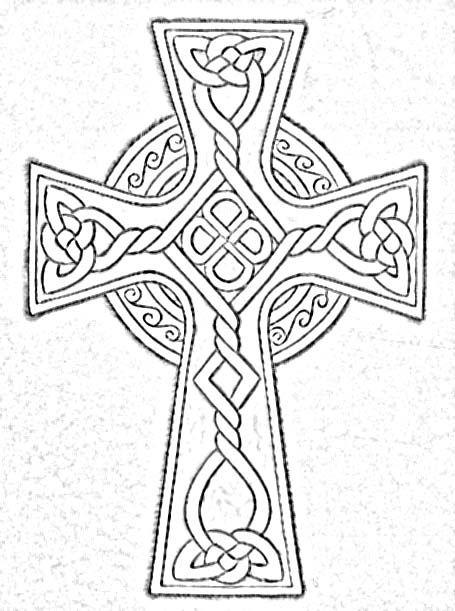 Celtic Knot Coloring Pages Large Celtic Cross 2 Celtic