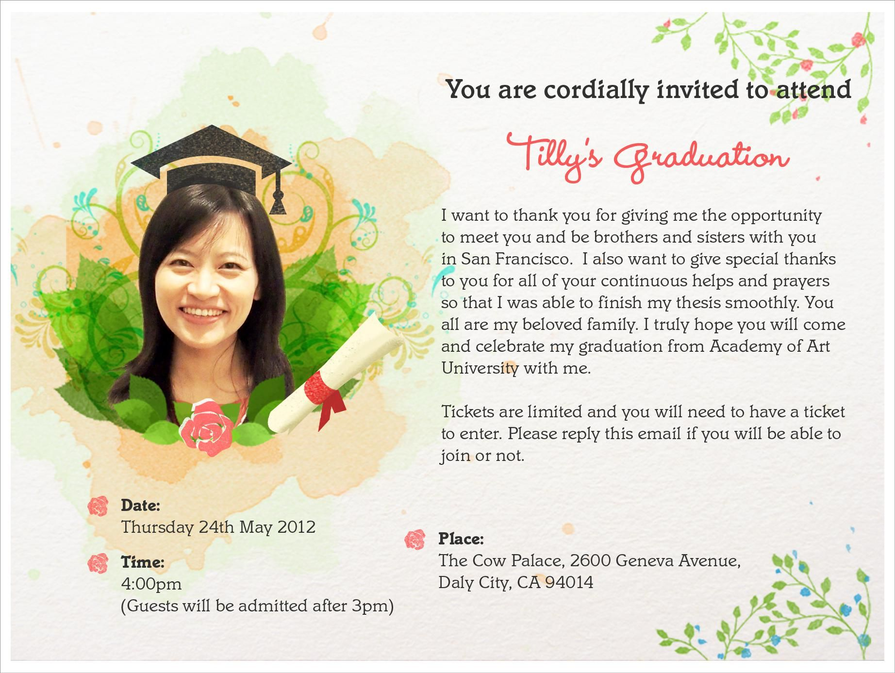 Graduation Invitation Cards Graduation Invitation Card Design