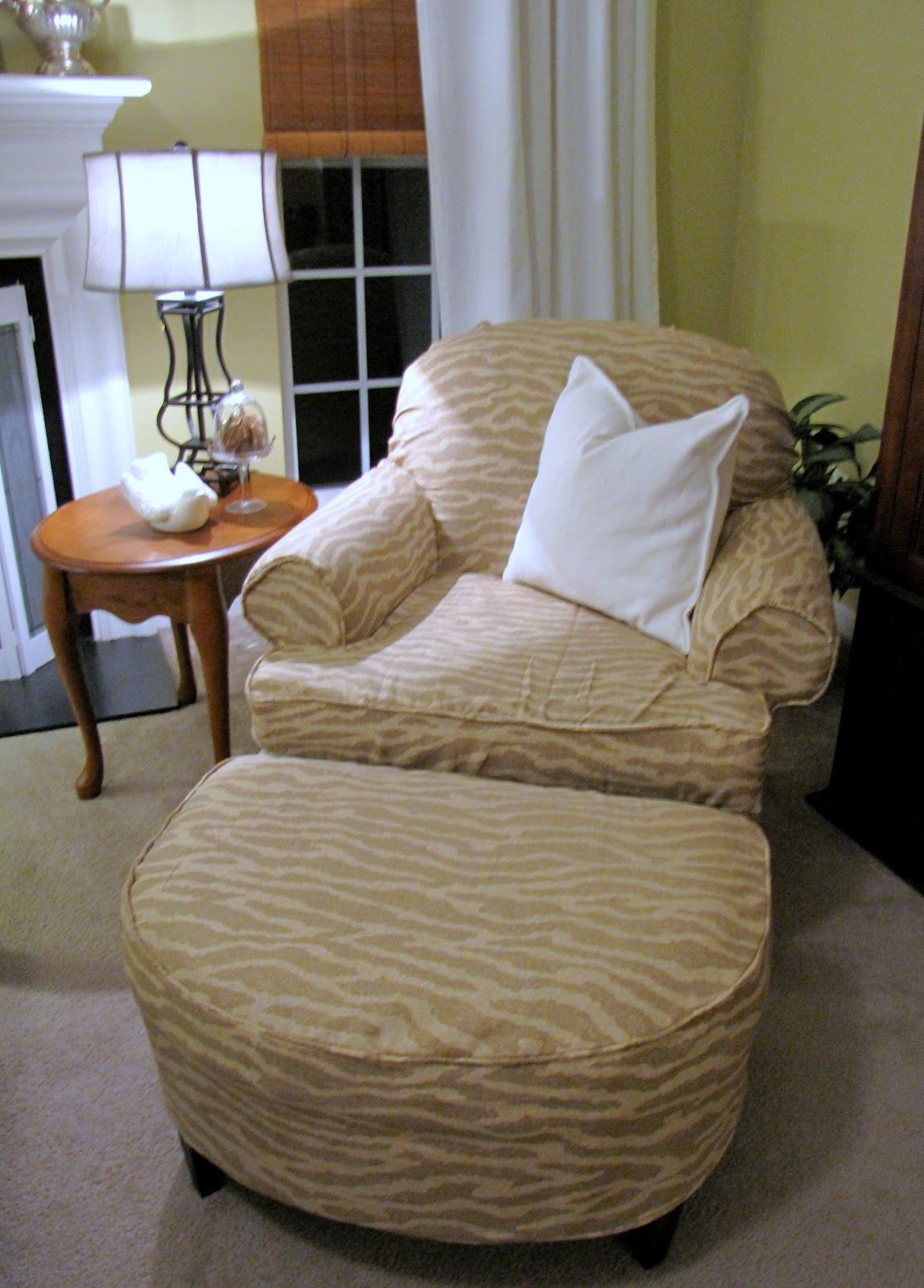 Armchair and Ottoman Slipcover Tutorial :: Including How ...