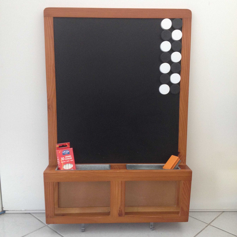 vendu prix 10 tableau noir magn tique en bois de. Black Bedroom Furniture Sets. Home Design Ideas