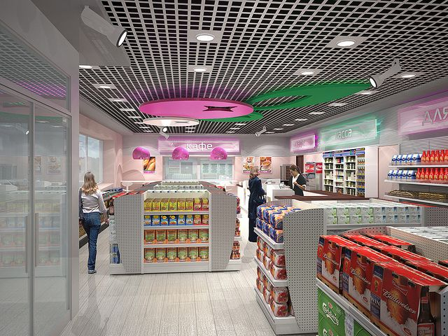 C-store interior – Bashneft by Minale Tattersfield Roadside Retail, via Flickr