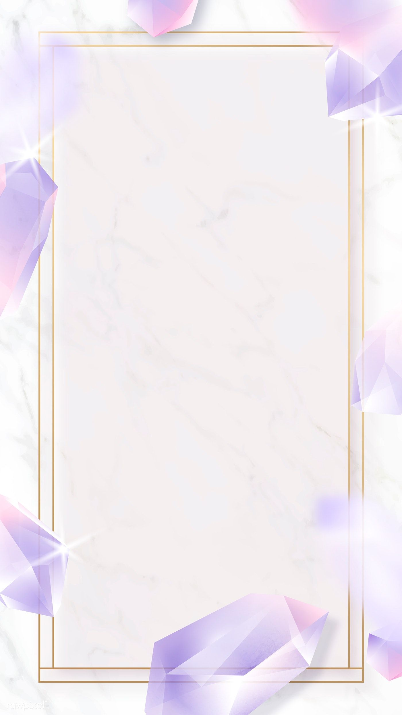 Download Premium Vector Of Rectangle Crystal Frame On Marble Background Marble Background Crystal Background Phone Wallpaper