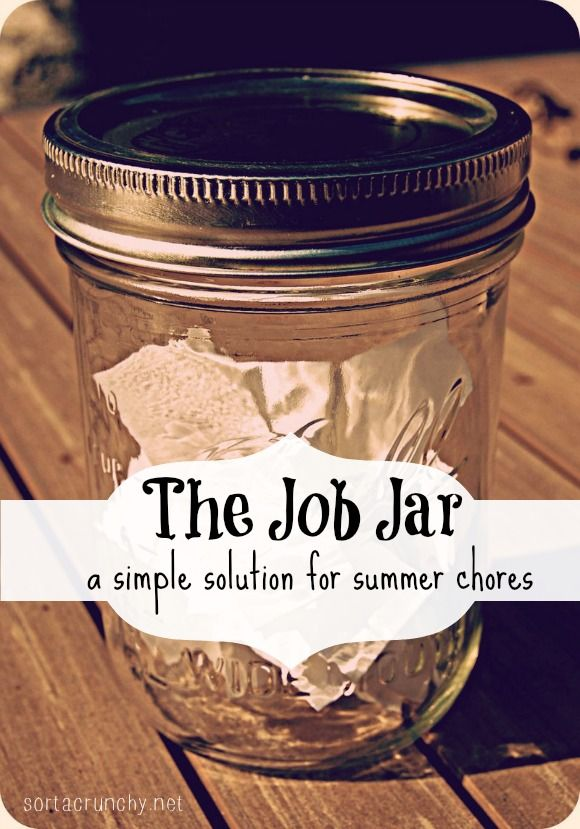 The Job Jar Such A Great Solution For Doing Chores With Kids Chores For Kids Jar Parenting Inspiration