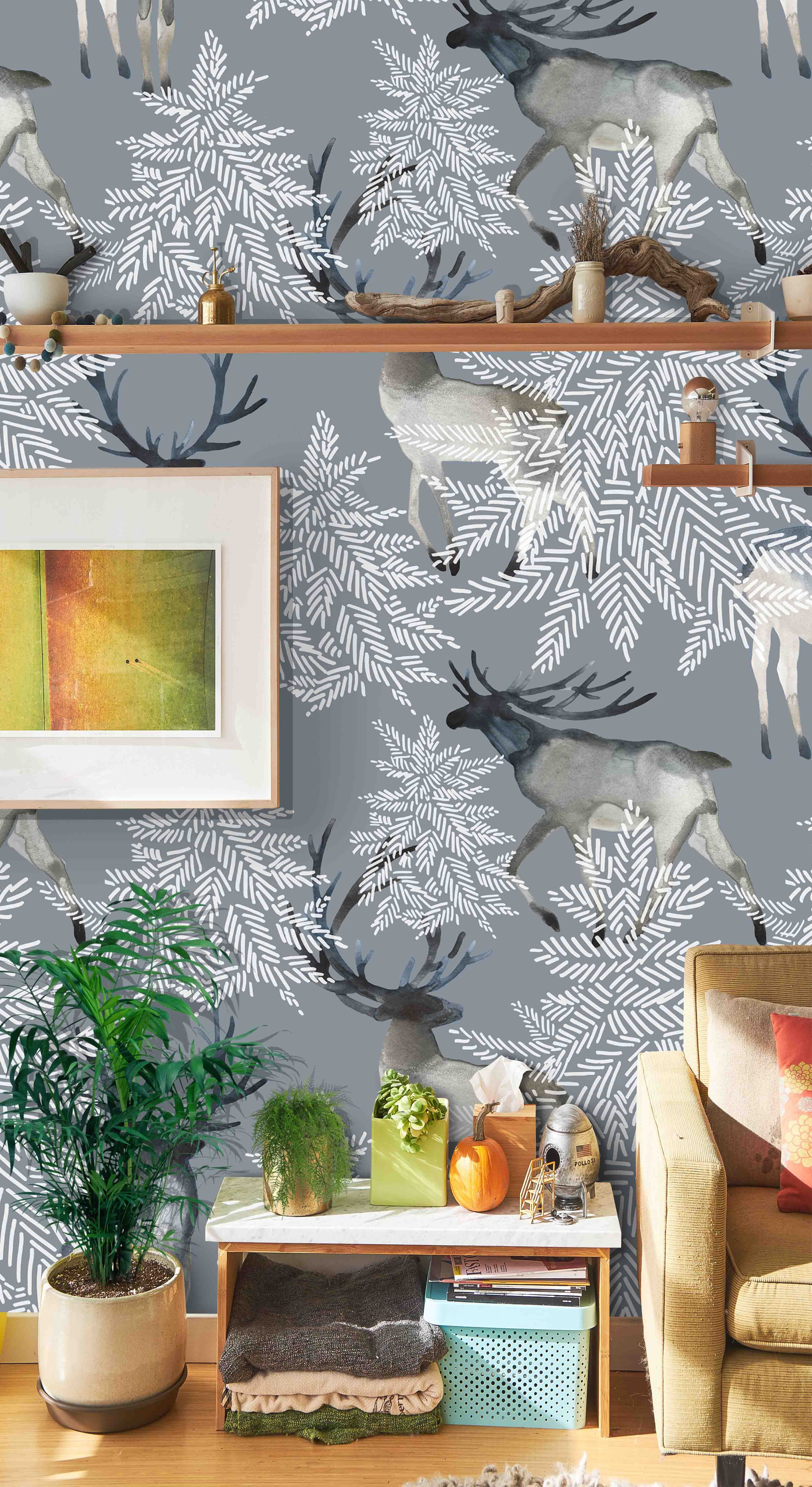 Holidays Wall Sticker Holiday Cozy Home Decor Wallpaper By Green Plant Print Home Decor Home Decor Decals Cozy House